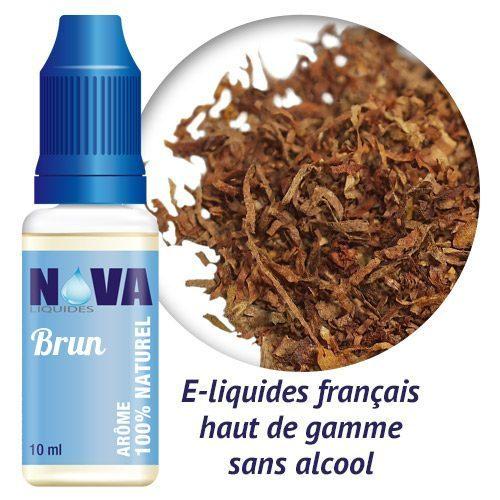 arôme tabac brun nova liquides