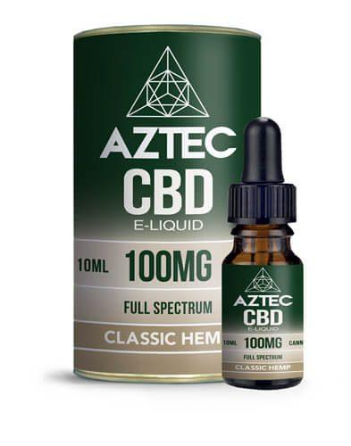 E-liquide au CBD de la marque Aztec Full Spectrum Super Classic Hempt Cannabidiol