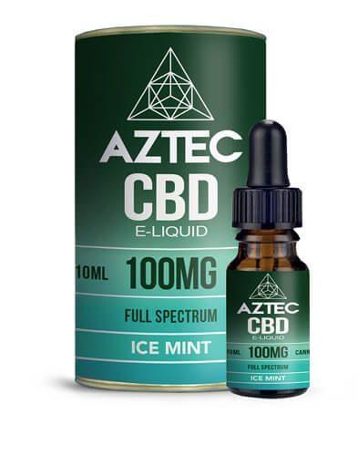 E-liquide au CBD de la marque Aztec Full Spectrum Super Ice Mint Cannabidiol