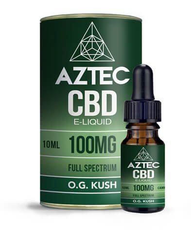 E-liquide au CBD de la marque Aztec Full Spectrum OG Kush Cannabidiol