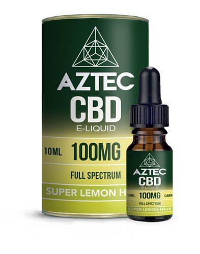 E-liquide au CBD de la marque Aztec Full Spectrum Super Lemon Haze Cannabidiol