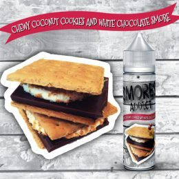E liquide smores,addict 60 ml booster fourni