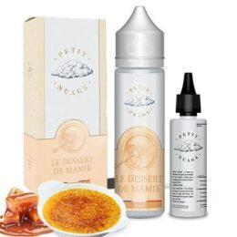 E-liquide Le dessert de Mamie 60ml pour cigarette électronique, gamme Petit Nuage