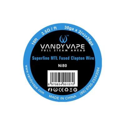 fil résistif Superfine MTL Wire pour atomiseurs reconstructibles fabriqué par Vandy Vape