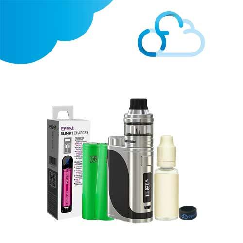 Kit cigarette électronique pico 25 eleaf slim k1 efest accu sony vtc6 e-liquide ciga france