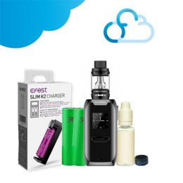 Pack Revenger X + Accus Sony VTC6 + Chargeur Slim K2 + E-liquide 10ml + Vape band Ciga France