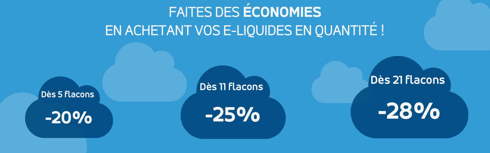 E-liquides prix dégressif pour faire des économies cigarette électronique Ciga France