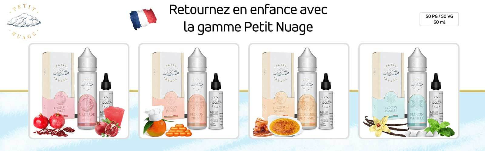 e-liquide gamme petit nuage 60 ml by roykin