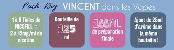 Pack DIY e-liquide VDLV Vincent Dans les Vapes Ciga France