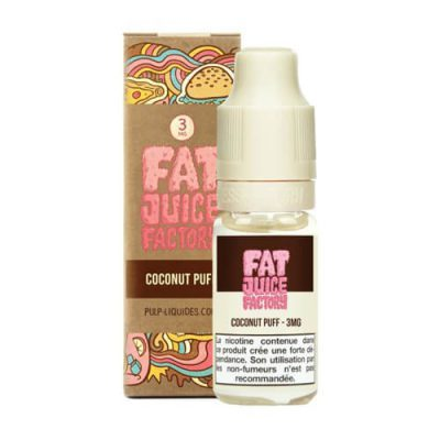 E-liquide Coconut puff 10 ml fat juice factory pulp liquides ciga france