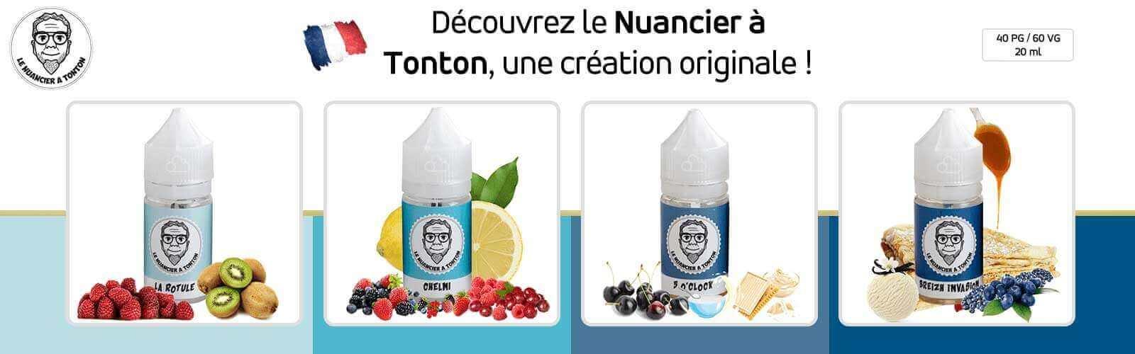 Le nuancier à tonton, une gamme de e-liquides originaux