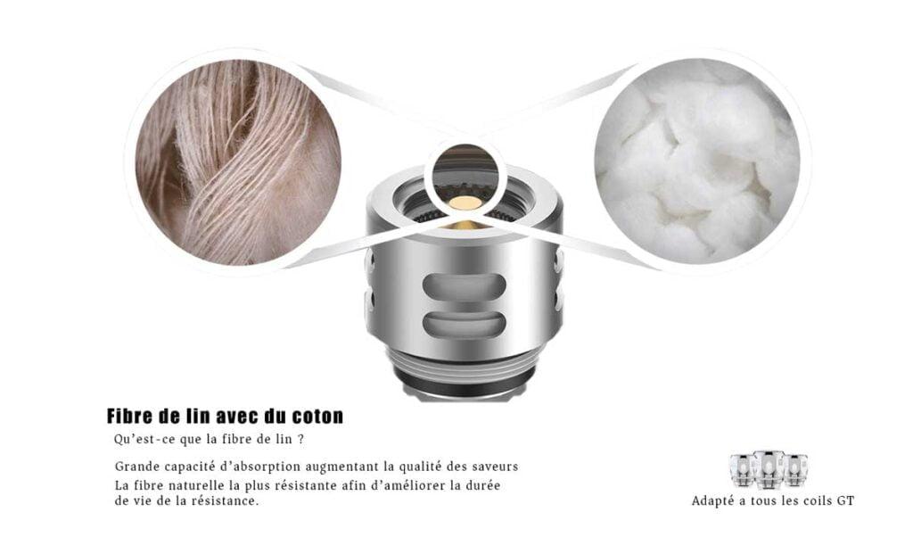 atomiseur skrr mini vaporesso fibre de lin