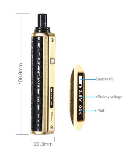dimensions cigarette électronique sx mini class yihi