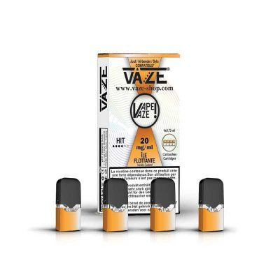 cartouche e-liquide ile flottante batterie vaze
