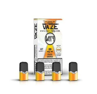 cartouche e-liquide peach orange batterie vaze