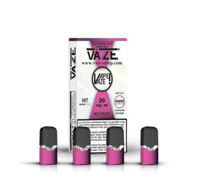 cartouche e-liquide fruits rouges batterie vaze