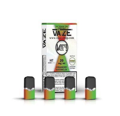 cartouche e-liquide strawberry watermelon batterie vaze