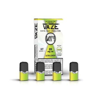 cartouche e-liquide ultra lemon batterie vaze
