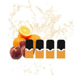 cartouche e-liquide batterie vaze peach orange