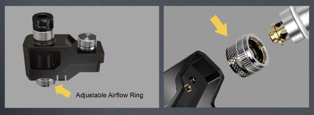 airflow ajustable cartouche
