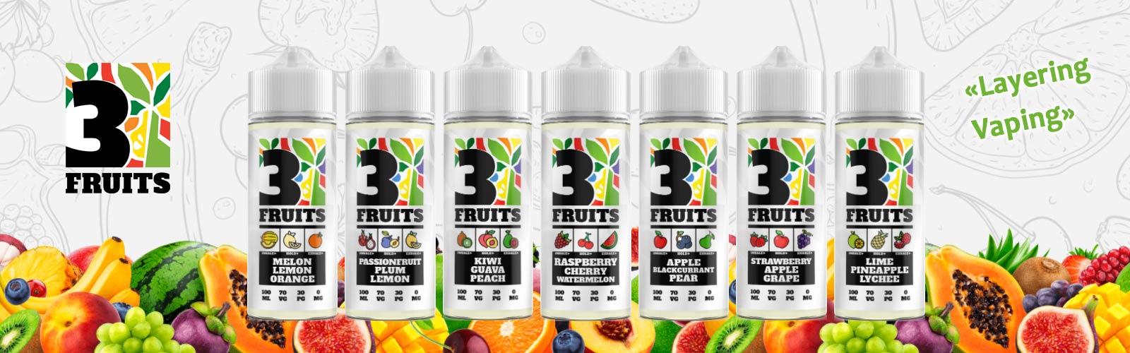Ce sont les e-liquides Anglais 3fruits vapotage par couche 100ml